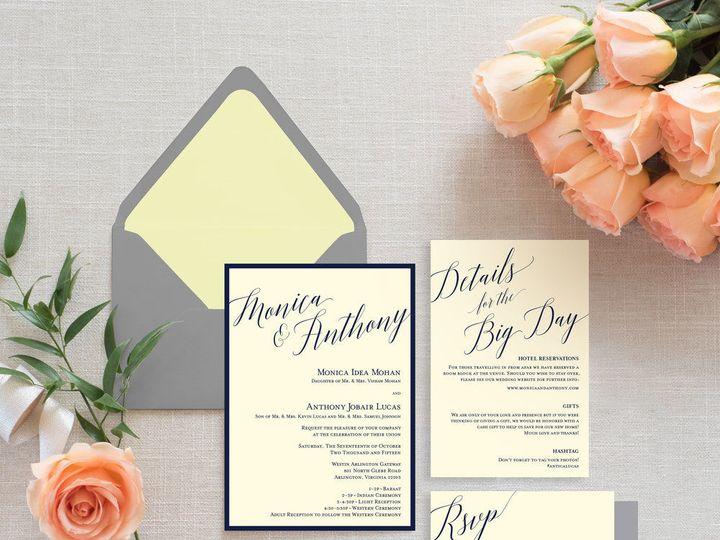 Tmx 1524682242 2da88f770f9b3872 1524682241 524a11d3e1b4f2de 1524682239519 10 Type A Invitation Washington, DC wedding invitation