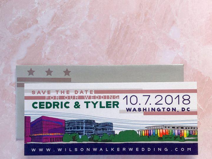 Tmx Typea Ct Lgbtq Pride Rainbow Weddinginvitations Custom Savethedate Dc 51 761987 V1 Washington, DC wedding invitation