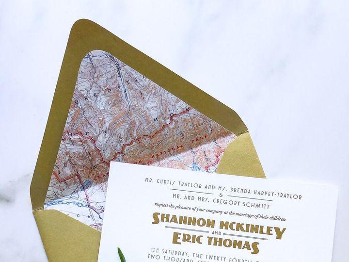 Tmx Typea Nationalparkwedding Watercolormountains Goldshimmerenvelopes Pinterest 51 761987 1571070966 Washington, DC wedding invitation