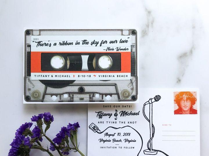 Tmx Typeainvitations Musicwedding Vinatge Casettetape Savethedate Postcard 1 51 761987 1571070617 Washington, DC wedding invitation