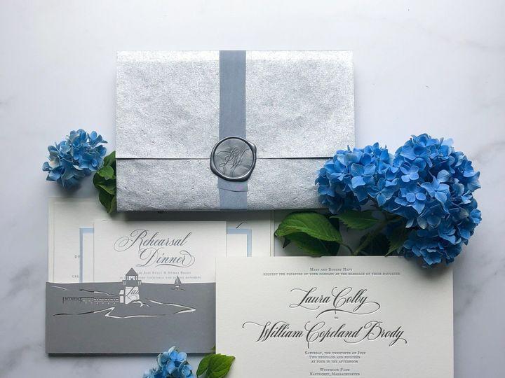 Tmx Typeainvitations Nantucket Silverblue Wedding Formalinvitation Silverfoilstamping Lasercutpocketbacking Hydrangeas 51 761987 1571069997 Washington, DC wedding invitation