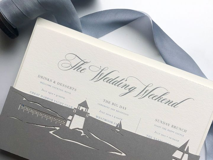 Tmx Typeainvitations Nantucket Silverblue Wedding Skylinepocketbacking Lighthouse Sailboats Coastalwedding Blueribbon 51 761987 1571069997 Washington, DC wedding invitation