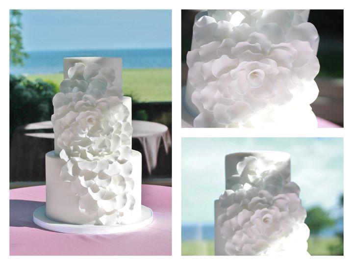Tmx 1386021424033 Casscading Petals Collag Derry wedding cake