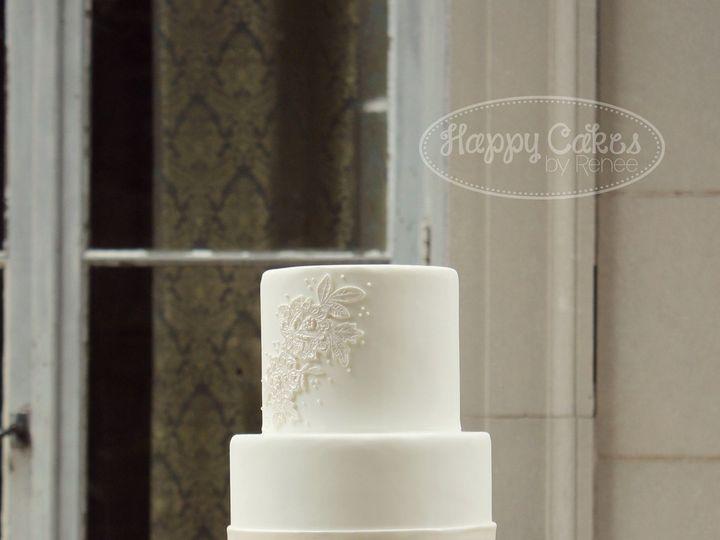 Tmx 1386021503293 Lace Applique Cake 3 Derry wedding cake
