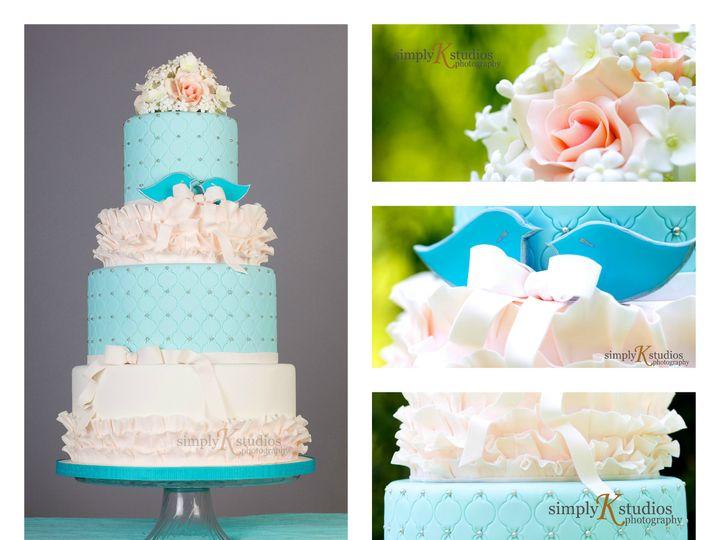 Tmx 1386021573406 Teal N Pink Cake Collag Derry wedding cake
