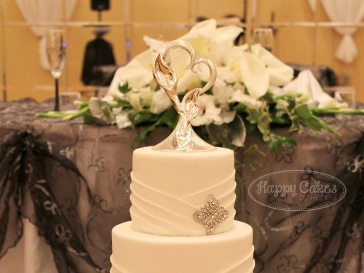 Tmx 1386021658772 Pleats  Brooches Cake 3 Derry wedding cake