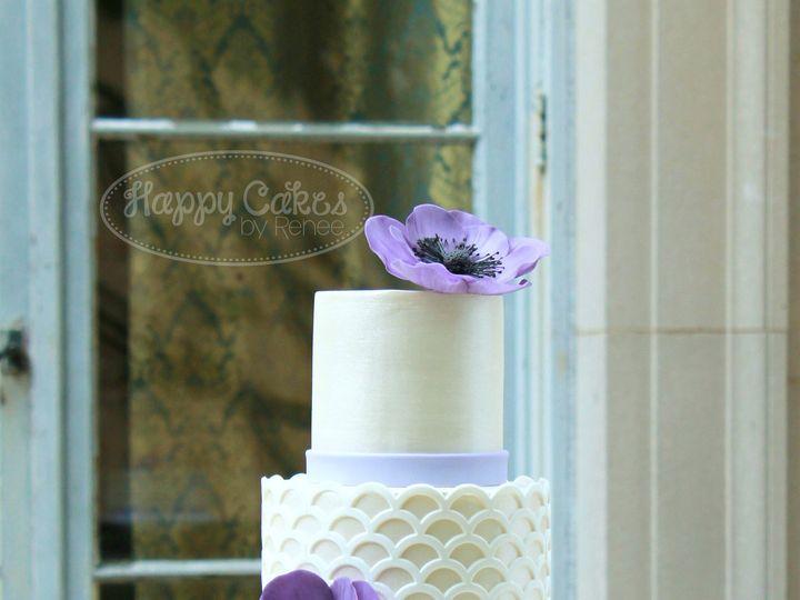 Tmx 1386021686243 Purple Anemone  Scalloped Lattice 1 Derry wedding cake