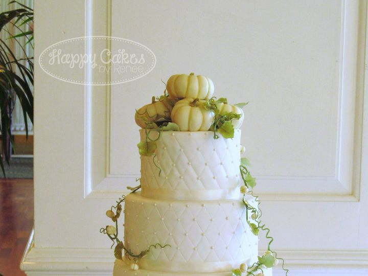 Tmx 1386021709982 White Pumpkin Fall Wedding Cake 3 Derry wedding cake