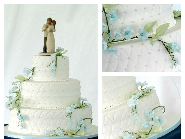 Tmx 1386021727668 White Quilted Sweet Pea Collag Derry wedding cake