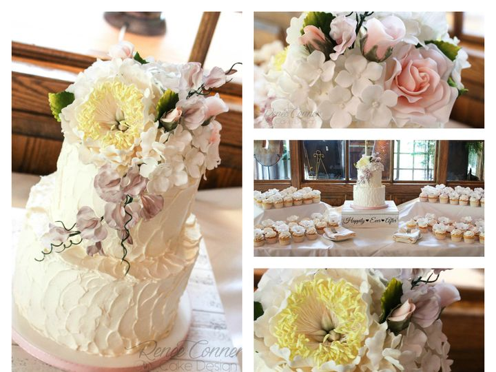 Tmx 1436379159684 Rustic Bc  Sugar Flowers Collage Derry wedding cake