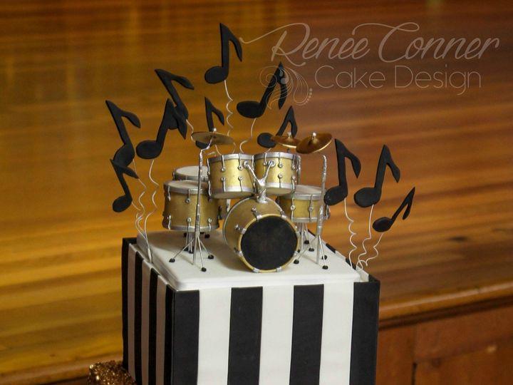 Tmx 1436379193766 Gold Sequin Bw Music Cake Rcw Derry wedding cake