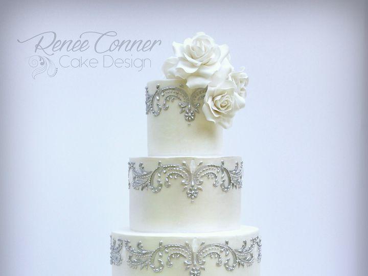 Tmx 1436379279992 White Glam Wedding Cake Rcw Derry wedding cake