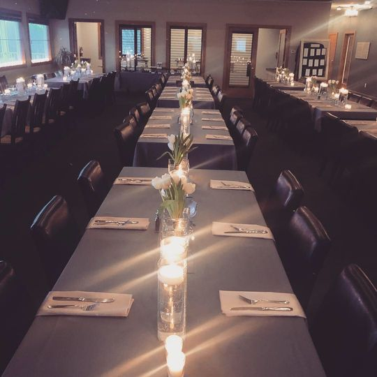 Winter wedding in clubhouse