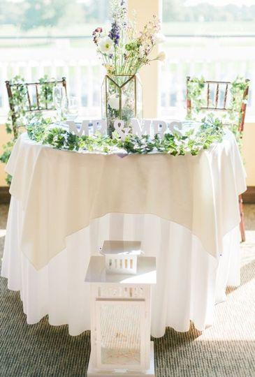 Creamy round tables