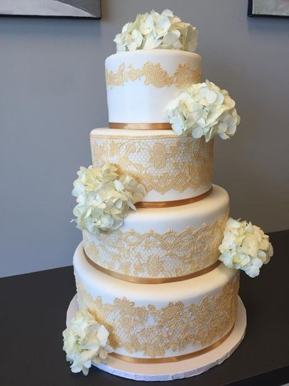 White cake with patterns
