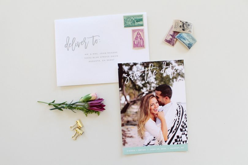 beach themed save the date
