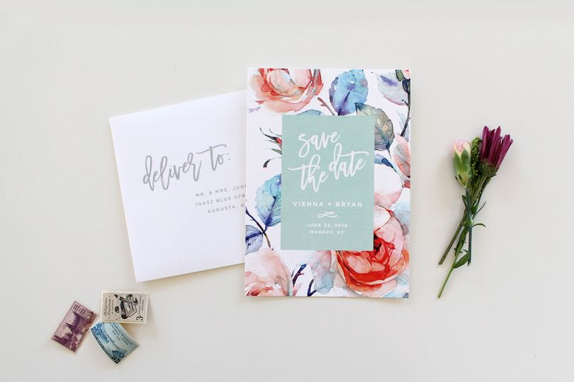 save the date with envelope addressing
