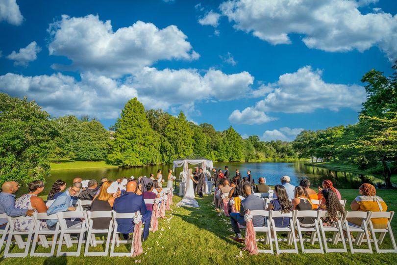 Beautiful ceremony scenery
