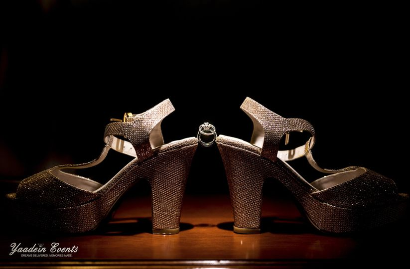Bridal shoes and ring