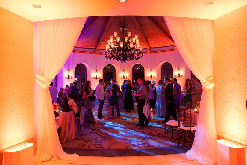 Reception party lighting