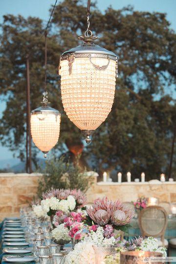 Lighting at outdoor reception