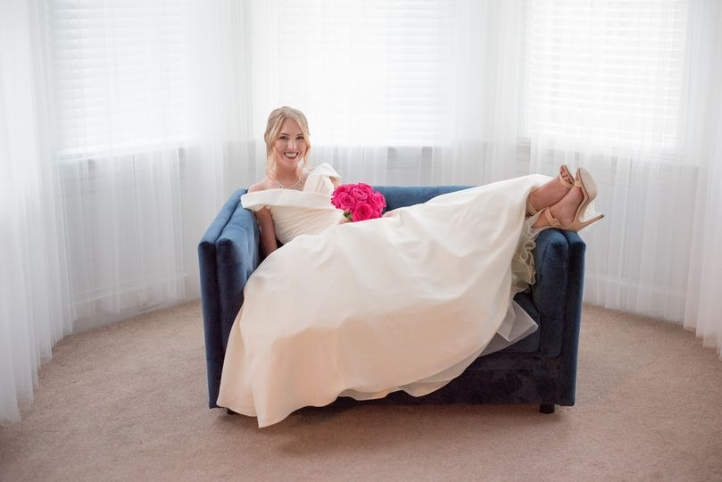 Relaxing in the Bridal Suite