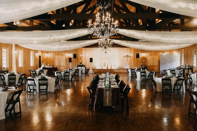 The Ranch - reception set-up