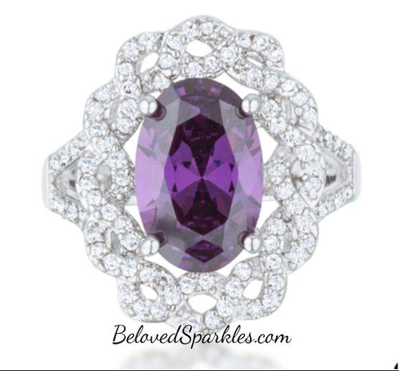 nagel amethyst purple oval classic twist halo st