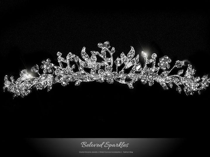 Tmx 1417452993955 Tiara Bridal Swarovski Crystal Floral Vintage Reig Sierra Madre, CA wedding jewelry
