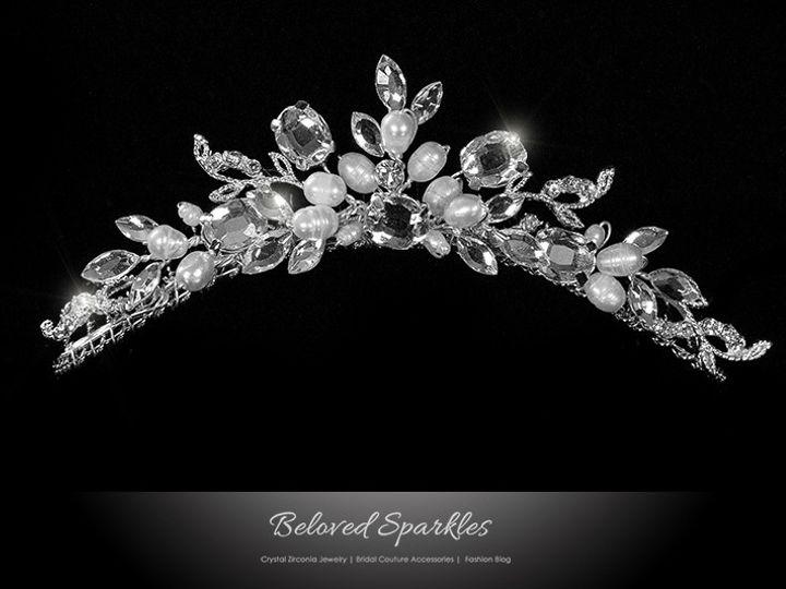 Tmx 1417453294384 Bridal Swarovski Crystal Pearl Hair Comb Tiara Rhi Sierra Madre, CA wedding jewelry