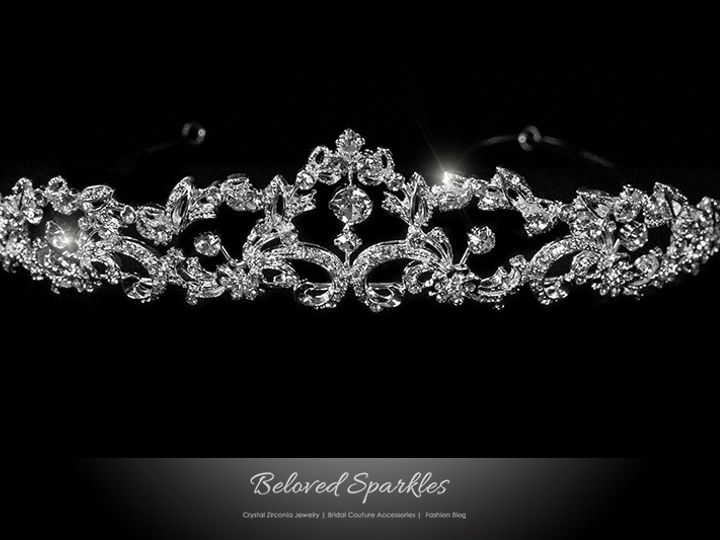Tmx 1417453713401 Bridal Swarovski Crystal Tiara Vintage Floral Rhin Sierra Madre, CA wedding jewelry