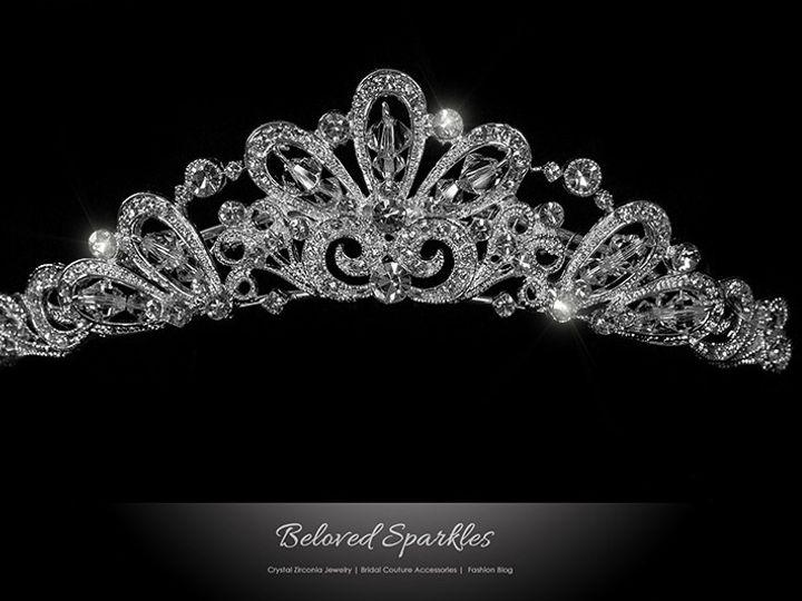 Tmx 1417453852054 Bridal Swarovski Crystal Rhinestone Hair Comb Tiar Sierra Madre, CA wedding jewelry