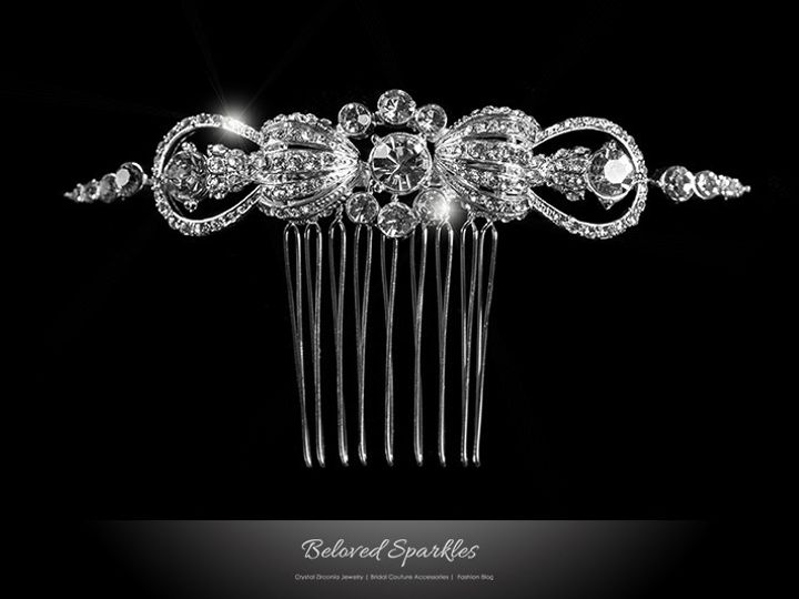 Tmx 1417454771373 Bridal Hair Comb Vintage Swarovski Crystal Wedding Sierra Madre, CA wedding jewelry