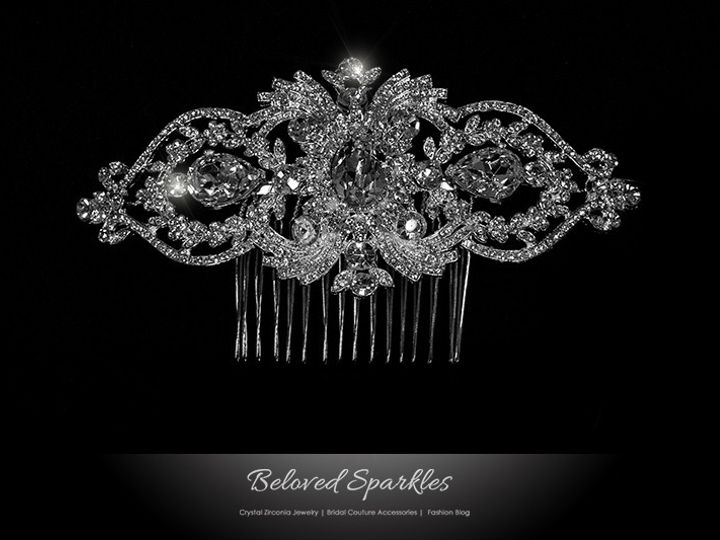 Tmx 1417454833319 Bridal Hair Comb Crystal Swarovski Vintage Reign V Sierra Madre, CA wedding jewelry
