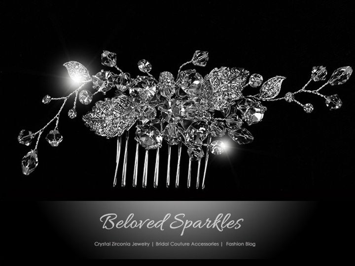 Tmx 1417454999788 Bridal Crystal Hair Comb Cubic Zirconia Vintage Fl Sierra Madre, CA wedding jewelry
