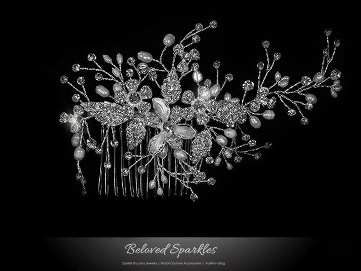 Tmx 1417455127539 Bridal Crystal Swarovski Pearl Hair Comb Floral We Sierra Madre, CA wedding jewelry