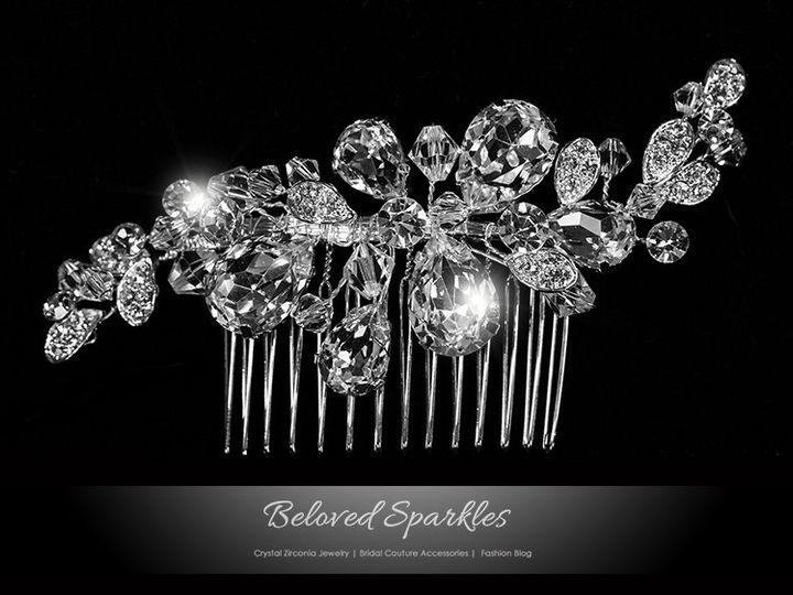 Tmx 1417455184712 Bridal Hair Comb Swarovski Crystal Vintage Reign V Sierra Madre, CA wedding jewelry