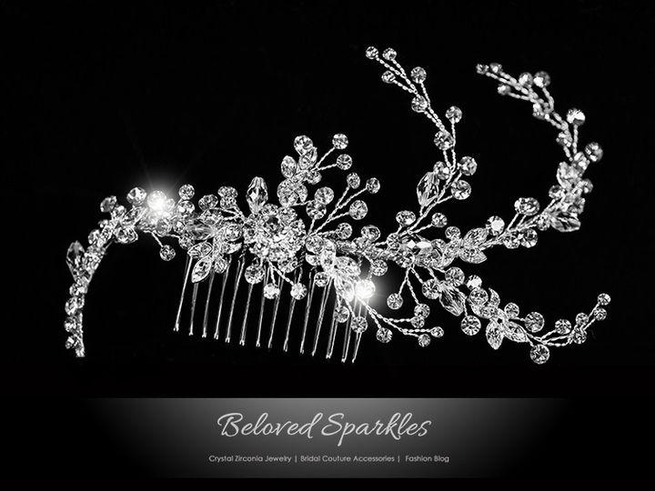 Tmx 1417455254546 Bridal Swarovski Crystal Hair Comb Floral Flower V Sierra Madre, CA wedding jewelry