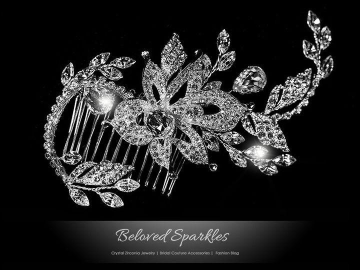 Tmx 1417455328940 Bridal Swarovski Crystal Floral Vintage Hair Comb  Sierra Madre, CA wedding jewelry