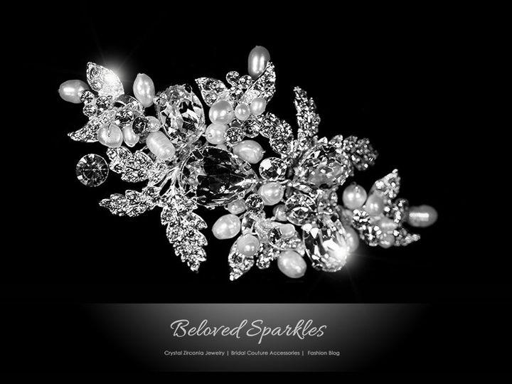 Tmx 1417455413362 Bridal Hair Comb Swarovski Crystal Pearl Floral Vi Sierra Madre, CA wedding jewelry
