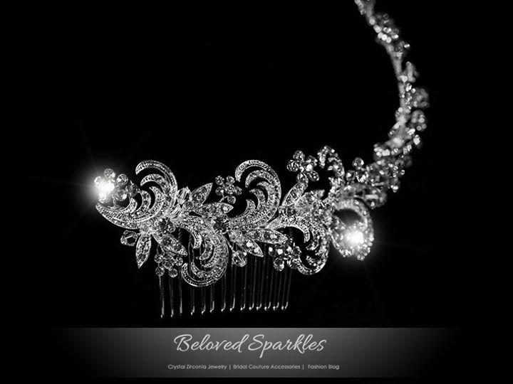 Tmx 1417455445424 Bridal Swarovski Crystal Floral Vintage Hair Comb  Sierra Madre, CA wedding jewelry