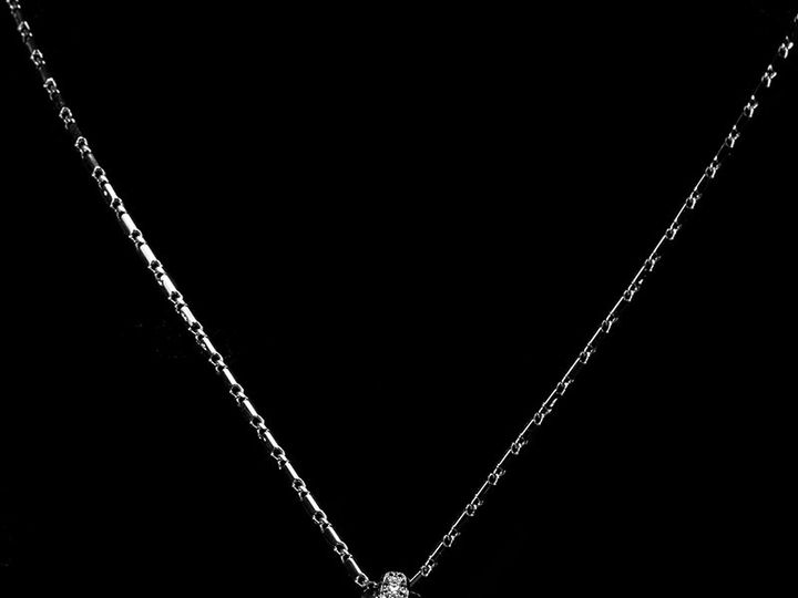 Tmx 1417459652278 Swarovski Crystal Cubic Zirconia Paved Oval Pendan Sierra Madre, CA wedding jewelry