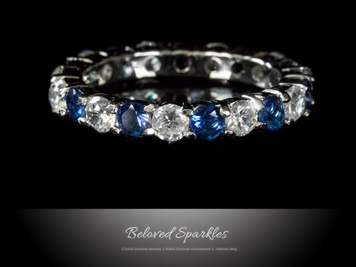 Tmx 1417460564166 Eternity Ring Sapphire Blue Bridal Wedding Band Vi Sierra Madre, CA wedding jewelry