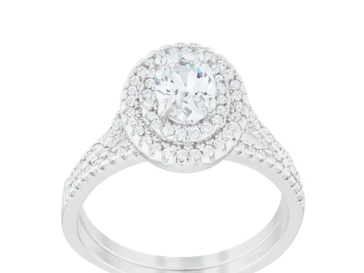 Tmx 1499962695141 2 Zehira Oval Cut Double Halo 3 4 Ct Carat Cubic Z Sierra Madre, CA wedding jewelry