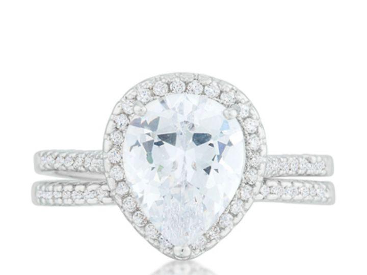 Tmx 1499962714219 3 Leoda Pear Cut Halo 5 Carat Ct Cubic Zirconia Cz Sierra Madre, CA wedding jewelry