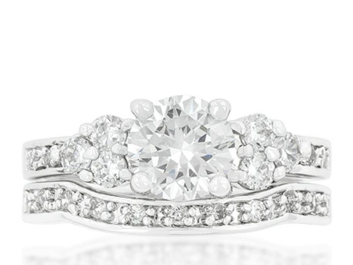 Tmx 1499962821545 3 Bella Vintage Three Tri Stone Triplet 1 4 Carat  Sierra Madre, CA wedding jewelry