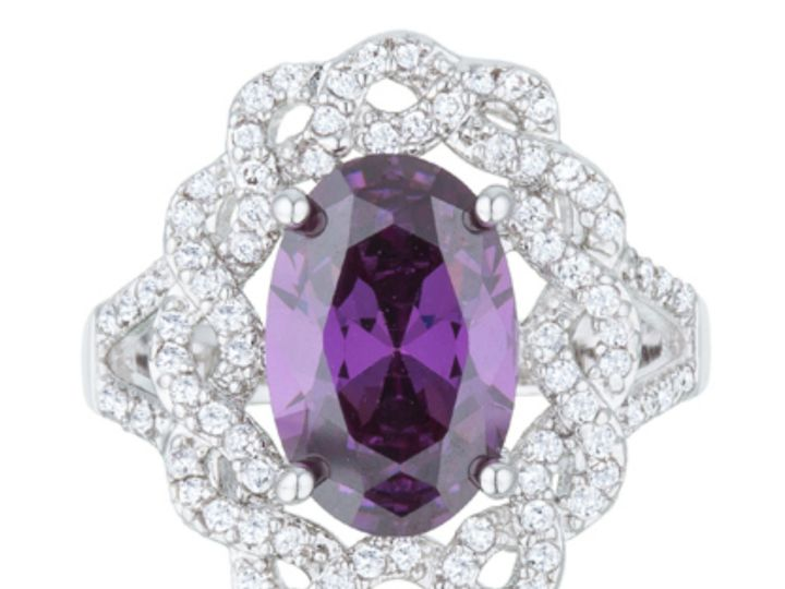 Tmx 1499962927246 3 Nagel Amethyst Purple Oval Classic Twist Halo St Sierra Madre, CA wedding jewelry