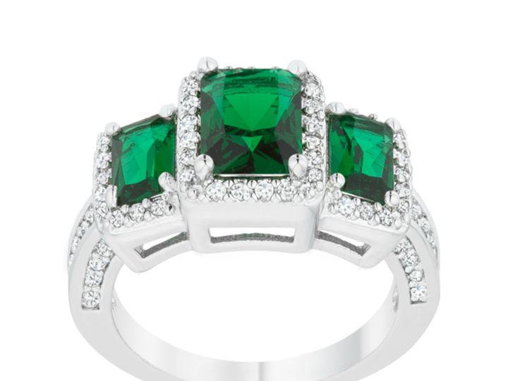 Tmx 1499962946591 2 Rita Three Stone Emerald Green Radiant Cut Cockt Sierra Madre, CA wedding jewelry