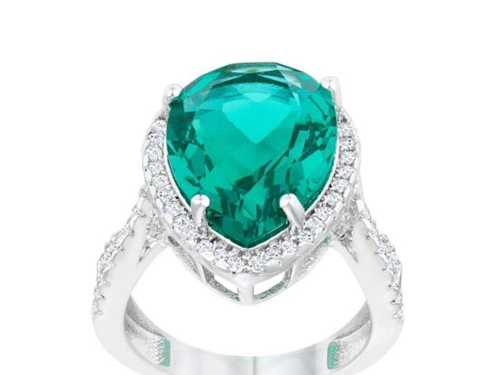 Tmx 1499962966853 2 Laura Aqua Green Pear Teardrop Halo Classic Cock Sierra Madre, CA wedding jewelry