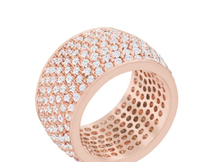 Tmx 1499963012524 1 Charish Rose Gold Wide Pave Cluster Eternity Coc Sierra Madre, CA wedding jewelry